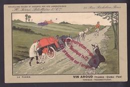 P183 - PUBLICITE VIN AROUD ( VIANDE QUINA ) La Panne Automobile Ane Remorquant - Humor