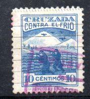 W868 - SPAGNA SELLO CRUZADA CONTRA EL FRIO 10 CENTIMOS. GUERRA CIVIL Usato . - Vignette Della Guerra Civile