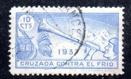 W906 - SPAGNA SELLO CRUZADA CONTRA EL FRIO 10 CENTIMOS. GUERRA CIVIL Usato . - Vignette Della Guerra Civile