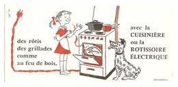 BUVARD CUISINIERE ROTISSERIE ÉLECTRIQUE - PETITE FILLE CHIEN DOG - BD - CHAVANNE PARIS - Electricité & Gaz