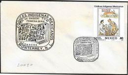 Messico/Mexico/Mexique: FDC, Codice Indigeno: L'Astrologia, Indigenous Code: Astrology, Code Indigène: Astrologie - Astrologia