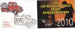 Petit Calendrier Des Pompiers 2010 Avec Camion à Colorier - Petit Format : 2001-...