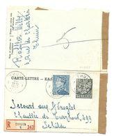 1,75 FR  EXPORT + 4 FR POORTMAN  Recom. THUIN 1950 Naar Schilde - Entiers Postaux