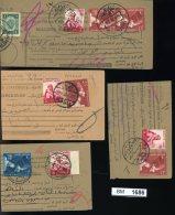 BM1686, Ägypten, O, 4 Kartenabschnitte Gelaufen, MF, Um 1956 - Égypte