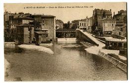 CPA 40 Landes Mont-de-Marsan Chute Du Midou Et Pont De L'Hôtel-de-Ville - Mont De Marsan