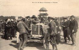 Cpa  Course Automobile Paris Vienne 1902 Arrivée D'henri Farmann - Sport Automobile