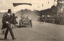 Cpa  Course Automobile Paris Vienne 1902 Arrivée Du Comte Zborowsky - Sport Automobile