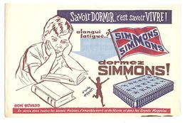 BUVARD AMEUBLEMENT LITERIE MATELAS SIMMONS - GRANDS MAGASINS - Buvards, Protège-cahiers Illustrés