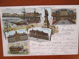 Souvenir D Anvers , Atelage De Chien , Laitiere , Dos 1900 - Antwerpen