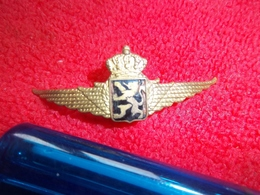 Plus Qu'une...! Insigne De Béret De La Force Aérienne Belge Année 50 - Badges & Ribbons