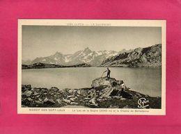 38 Isère, Massif Des Sept-Laux, Le Lac De La Sagne Et La Chaine Belledonne, Animée, (R. Girard, St Yon) - France