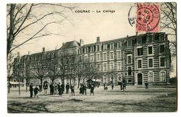 CPA 16 Charente Cognac Le Collège Animé - Cognac