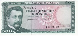BILLETE DE ISLANDIA DE 500 KRONUR DEL AÑO 1961 SIN CIRCULAR-UNCIRCULATED   (BANKNOTE) - Islande
