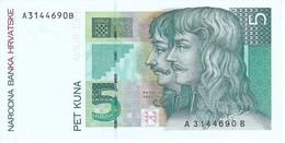 BILLETE DE CROACIA DE 5 KUNA DEL AÑO 1993 SIN CIRCULAR-UNCIRCULATED  (BANKNOTE) - Croatia