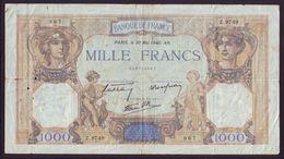 FRANCE - 1000 FRANCS  Cérès Et Mercure  Type 1927 Modifié - 30/05/1940 - 1871-1952 Circulated During XXth