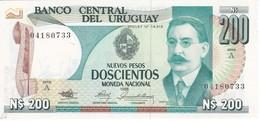 BILLETE DE URUGUAY DE 200 PESOS DEL AÑO 1986 SIN CIRCULAR-UNCIRCULATED (BANKNOTE) - Uruguay