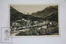 Real Photo Postcard Switzerland - Interlaken, Bahnhof - Railway Station - Uncirculated - BE Berne