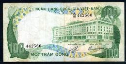 488-Vietnam Du Sud Billet De 100 Dong 1972 A10 - Vietnam