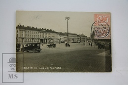 Real Photo Postcard Finland - Helsinki - Helsingfors - Old Cars, Posted 1929 - Finlandia