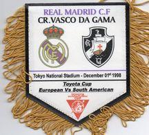 REAL MADRID / VASCO DE GAMA  Finale Championnat Du Monde Des Clubs 1998 - Habillement, Souvenirs & Autres