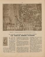 1938 : Document, ANGKOR, Les Temples Kmers, Vat, Thom, Ta Prohm, Banteay Srei, Takéo, Prah Khan, Terrasse Des Elephants - Vieux Papiers