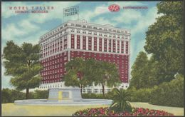 Hotel Tuller, Detroit, Michigan, 1951 - Curt Teich Postcard - Detroit