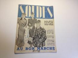 AU BON MARCHE , Paris , Catalogue DES SOLDES , Hiver 1937 , 1938 - Publicités