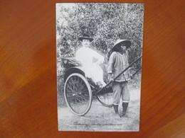 Cochinchine , Saigon , Pousse Pousse - Viêt-Nam