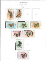 Nicaragua PA 1967 Farfalle Scott.C606+607+608/614+617++ Used See Scans On Scott.Album+ - Nicaragua