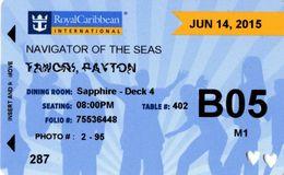 STATI UNITI  KEY CABIN  Royal Caribbeans Navigator Of The Seas -   Shipping Company - Hotelkarten