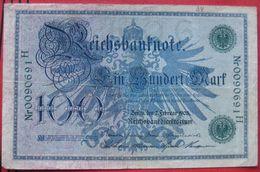 100 Mark 1908 (WPM 34 / Rosenberg 34) - [ 2] 1871-1918 : Empire Allemand