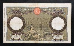 100 Lire Roma Guerriera Fascio Roma 18 08  1936 La Prima Banconota Imperiale RARA LOTTO 419 - [ 1] …-1946 : Kingdom