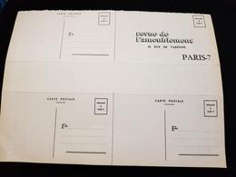 4 Cp Publicitaires REVUE DE L'AMEUBLEMENT 38 Rue De Varenne PARIS 7 Décoration Meuble Chaise Table Buffet Armoire - Français