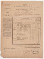 RENNES 35 France -extrait Contributions Directes 1892 -Vve CHOUQUET Née Briand -4 Rue Duguesclin - France