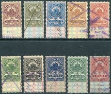 Russia 1905 / 1915 General Revenue Stamps Fiscal Tax Duty Gebührenmarken Stempelmarken Steuermarken Russland Russie (10) - Fiscali