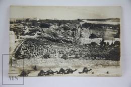 Old Real Photo Postcard Israel - Gordon's Calvary - Camel Caravan - Israel