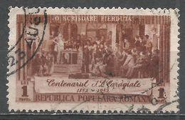 Romania 1952. Scott #816 (U) Annoucing Caragiale Celebration - 1948-.... Republics