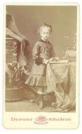 Photo CDV Fillette Vers 1890 ( Photo Dupont, Bruxelles ) - Personnes Anonymes