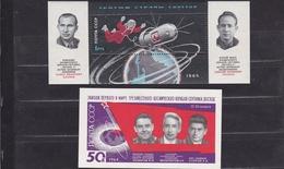 1964 1965 URSS USSR Russia VOSKHOD I° E II° SPAZIO BF 36/37A 2 Foglietti MNH** 2 Souv. Sheets - Raumfahrt