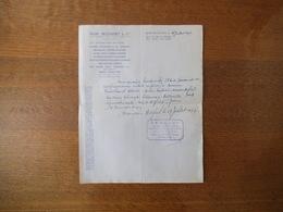 MAISONS-ALFORT ANDRE MOUSSINET & Cie MATERIEL AUTOMOBILE CERTIFICAT D'ACHAT DELAUNAY BELLEVILLE DU 27 JUILLET 1957 - France