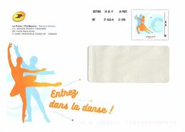 """FRANCE Entier Postal Philaposte """"Entrez Dans La Danse"""" Aff. Monde 250 Grs - Postal Stamped Stationery"""