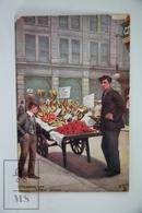 Old Illustrated Postcard By Oilette - London Life - Fruit Vendor - Londres – Suburbios