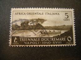 AFRICA ORIENT. ITALIANA - 1940, Triennale Oltremare, Sass N. 27, Cent.5, Usato - Italienisch Ost-Afrika
