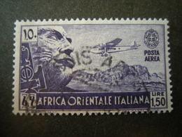 AFRICA ORIENT. ITALIANA - 1938, Posta Aerea, Sass N. A6, Lire 1,50, Usato - Africa Orientale Italiana