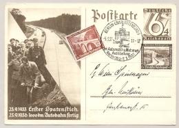 Deutsches Reich - 1947 - 6+4Pf Postkarte Erster Spatenstich Autobahn / Automobil Ausstellung Berlin - Duitsland