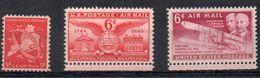 U.S.A. - STATI UNITI D'AMERICA 1948/49 - POSTA AEREA - 3 VALORI - ** - Nuovi