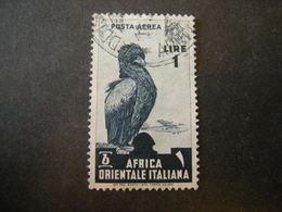 AFRICA ORIENT. ITALIANA - 1938, Posta Aerea, Sass N. A5, Lire 1, Usato - Italienisch Ost-Afrika