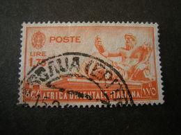 AFRICA ORIENT. ITALIANA - 1938, Pittorica, Sass N. 14, Lire 1, 75, Usato - Italienisch Ost-Afrika