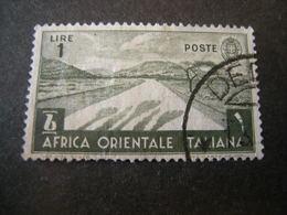 AFRICA ORIENT. ITALIANA - 1938, Pittorica, Sass N. 12, Lire 1, Usato - Italienisch Ost-Afrika