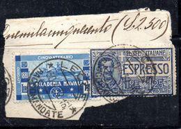 W698 - REGNO 1931 , 1,25 Cent N. 302  Usato .  Accademia Livorno - Usati